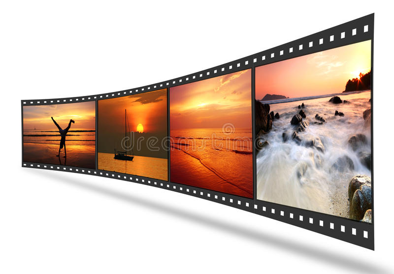 Download 3D Film Strip With Nice Pictures Royalty Free Stock Images - Image: 21912579