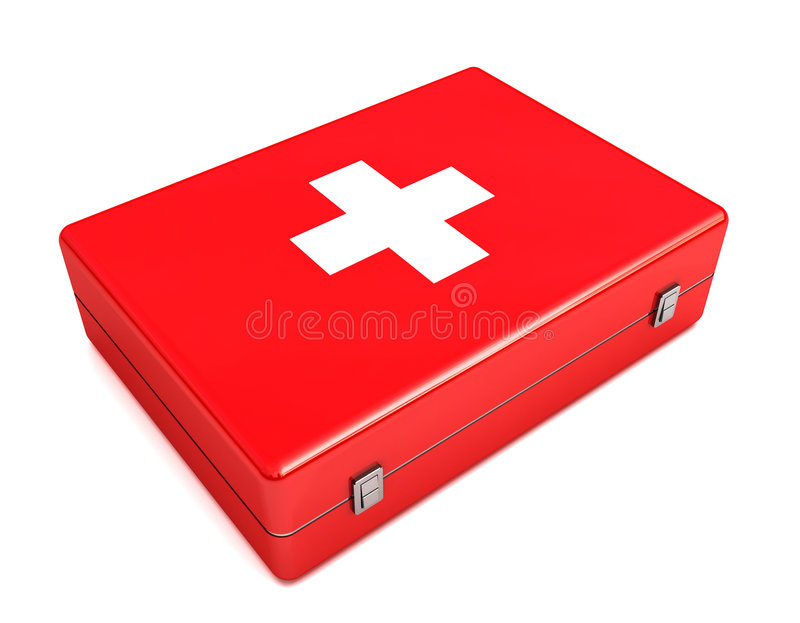 Download 3d First Aid Kit Isolated On White Royalty Free Stock Image - Image: 8893886