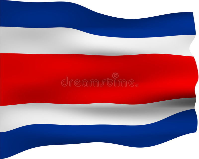 3D Flag Of Costa Rica Stock Photography