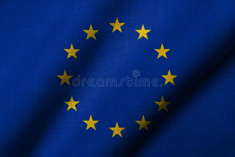 Download 3D Flag Of  European Union Waving Stock Photo - Image: 13561208