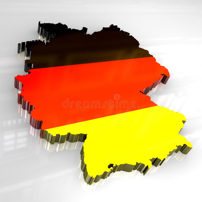 3d flag map of germany