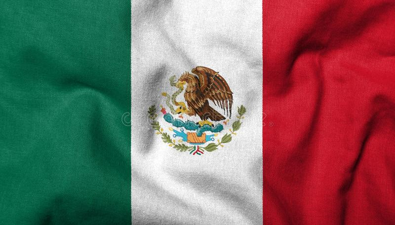 3D Flag of Mexico royalty free stock image
