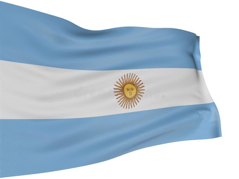 3d flaga Argentina ilustracja wektor