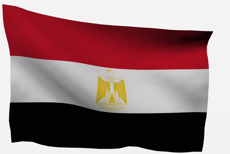 3d flaga Egypt zdjęcie royalty free