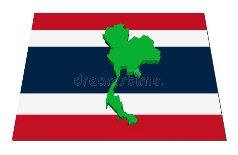 Download 3d flaga mapa Thailand ilustracji. Ilustracja złożonej z ilustracje - 13339291