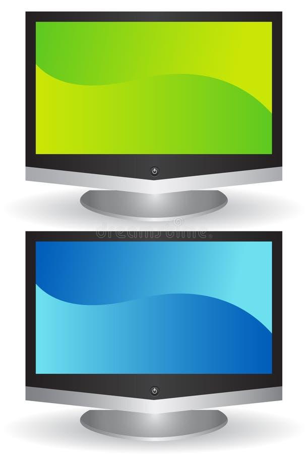 3D Flat Screen TV Royalty Free Stock Photos