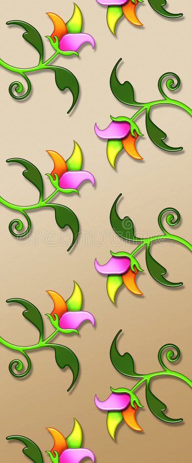 3D Floral Pattern royalty free stock photos