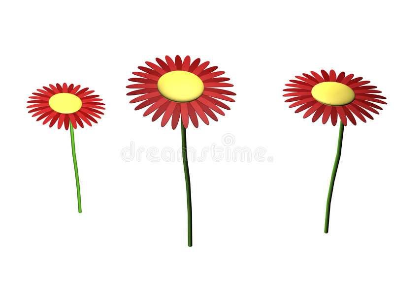 Download 3d flowers stock illustration. Image of blooming, nature - 5439660