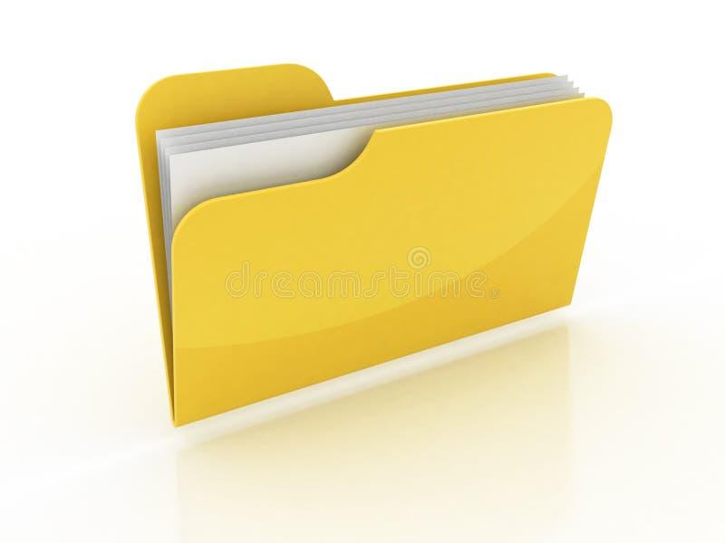 3d folder icon vector illustration