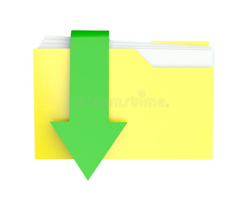 Download 3d Folder Icon With Arrow, Download Stock Illustration - Image: 22385230