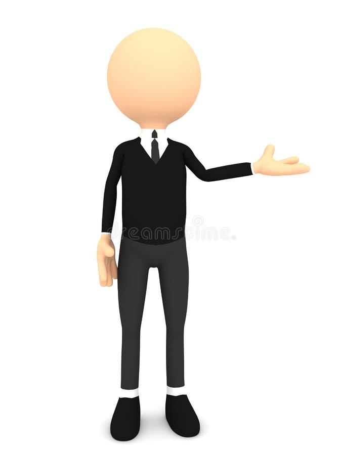3d folk - man, presentera för person stock illustrationer