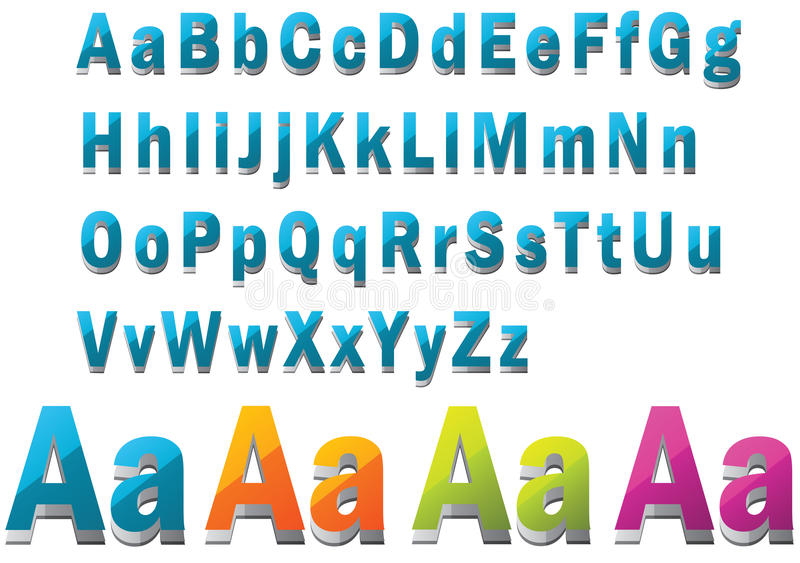 Download 3D Font stock vector. Image of baby, colorful, learning - 19990914