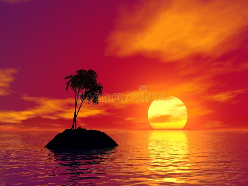 3d foto van het eiland vector illustratie