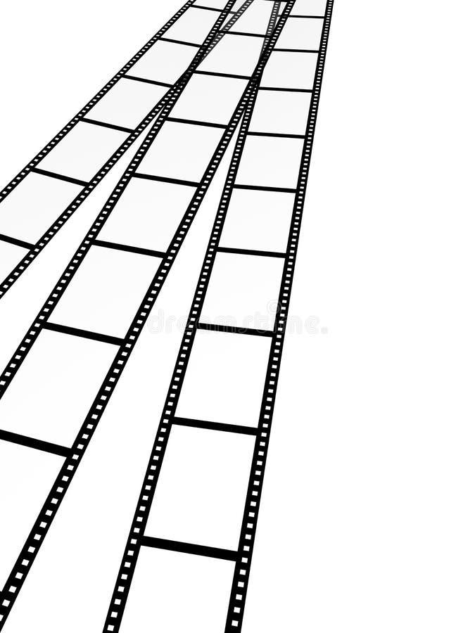 3d fotograficzny tło abstrakcjonistyczny film ilustracja wektor