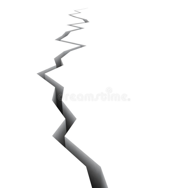 Download 3D Fracture perspective stock illustration. Image of shake - 22695953
