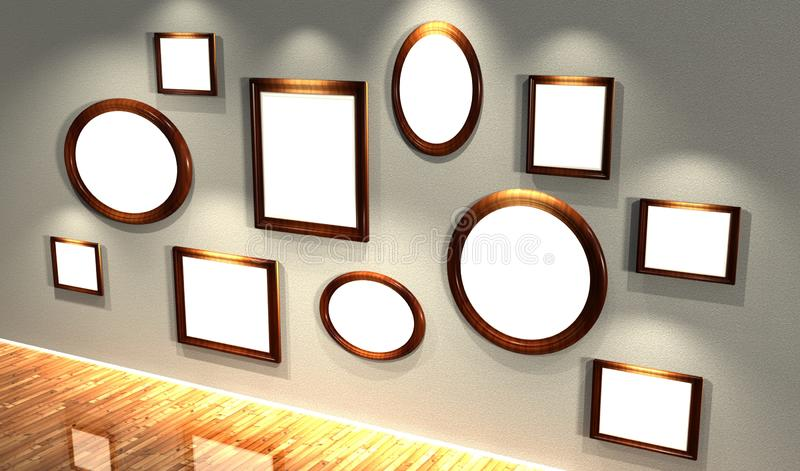 Download 3d frames set stock illustration. Image of copyspace - 22385335