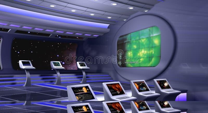 3d framförde spaceshipen vektor illustrationer