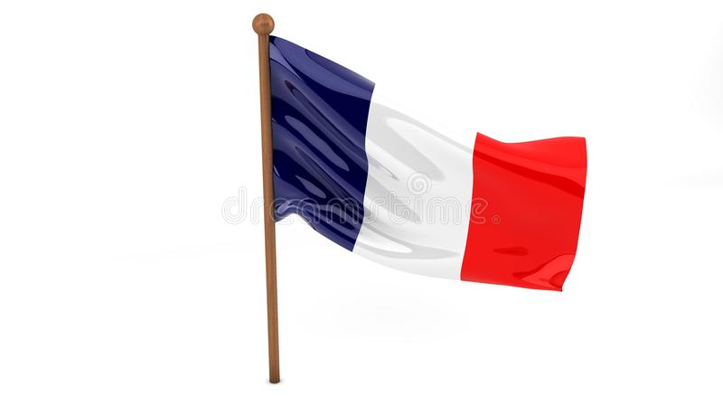 Download 3D French flag stock illustration. Image of fabric, flagstaff - 26942720