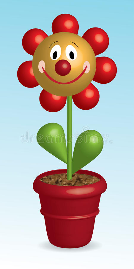 Free 3D Funny Flower In Pot Royalty Free Stock Image - 17984856