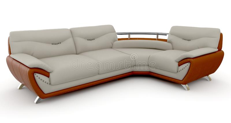 3d furniture detailed stock illustration