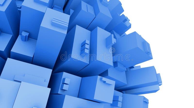 3d futuristische Stadt, Planetenansicht stock abbildung