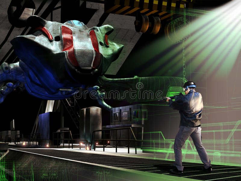 3D games royalty free illustration