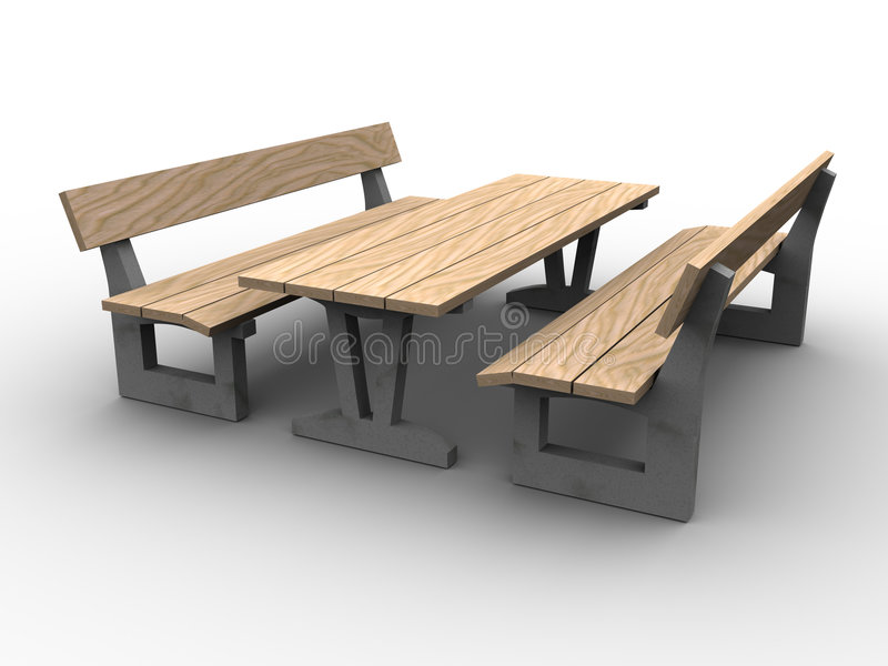 download 3d garden furniture stock illustration image of bench 951828 - Garden Furniture 3d