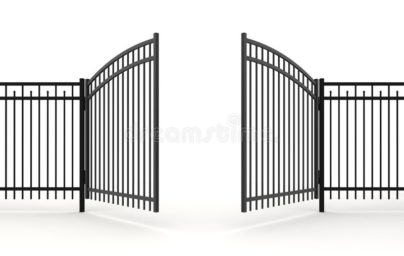 3d gate. 3d fence gates open metall
