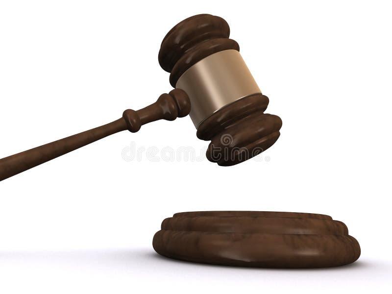 Download 3d gavel stock illustration. Image of justice, juridical - 4575624