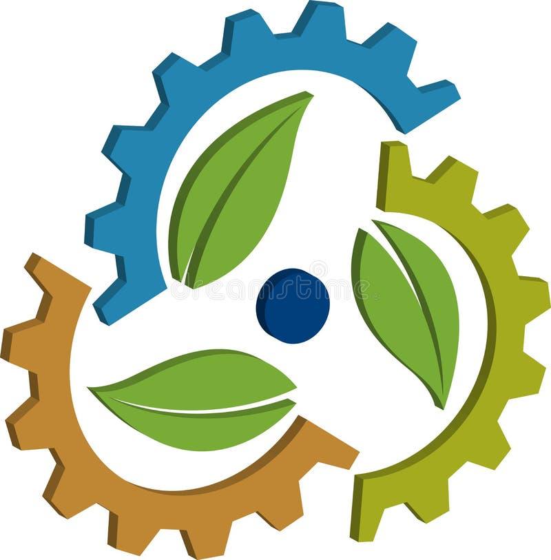 Download 3D gear leaf stock vector. Illustration of conceptual - 25448956