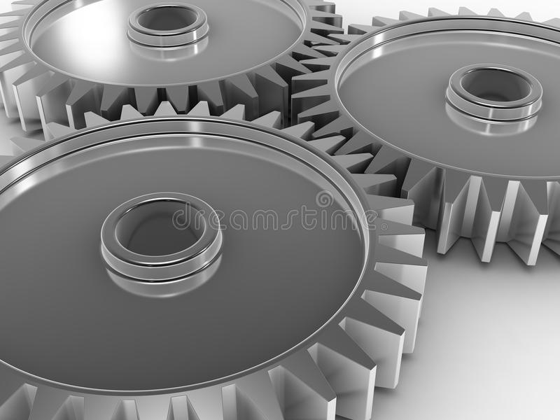 Download 3D Gears stock illustration. Image of close, power, machinery - 18785943