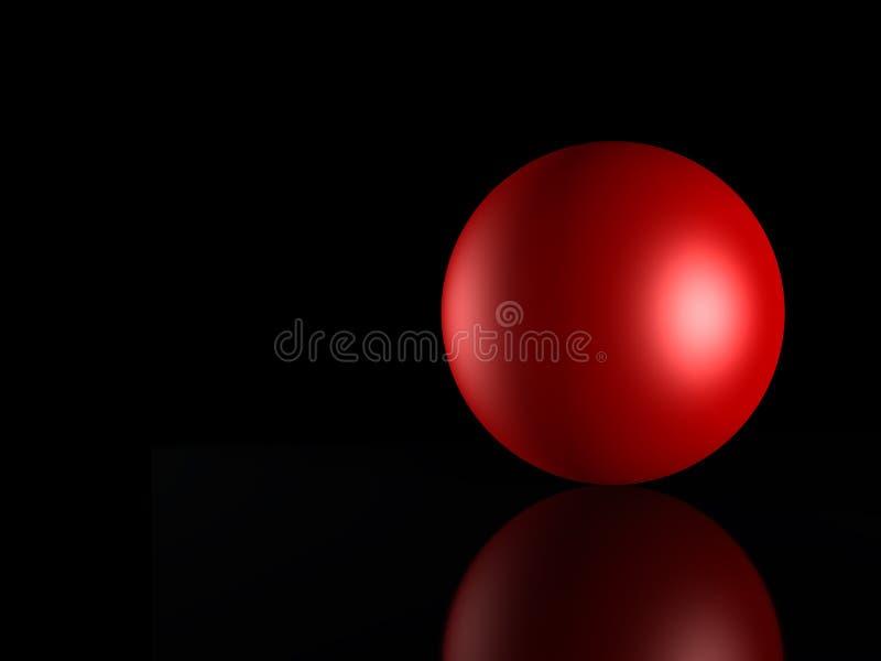 3D gebied red_ stock illustratie