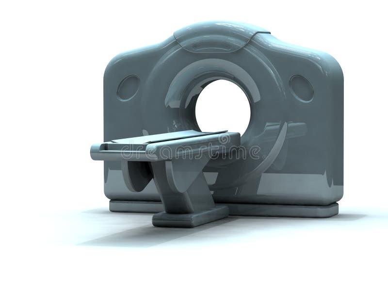 3d geef ct of kattenscanner terug vector illustratie