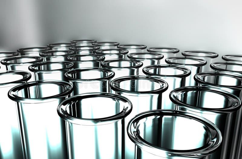 3D geef Reageerbuizen terug stock illustratie