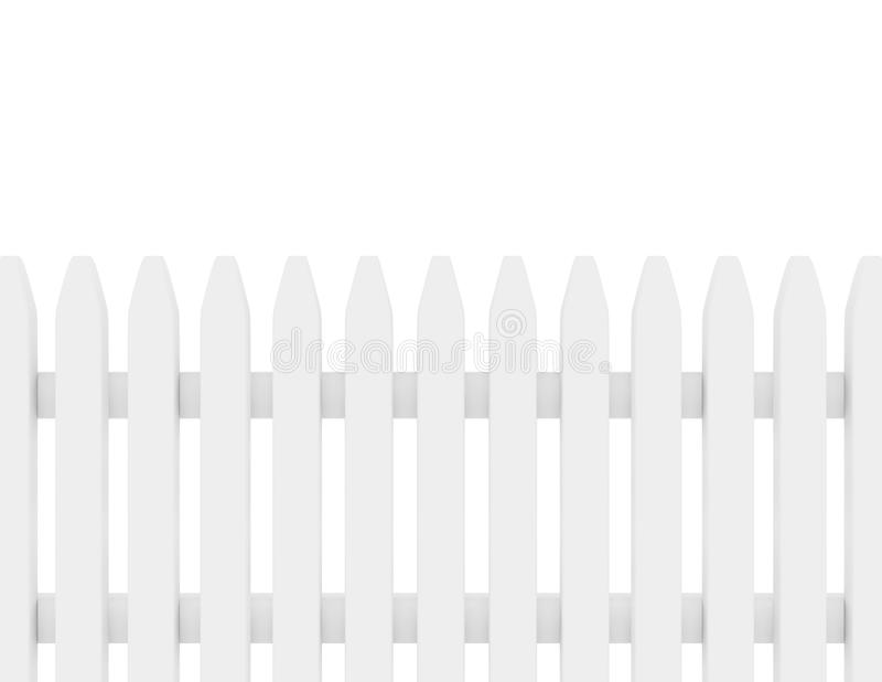 3d geef van een Witte Omheining van het Piket terug vector illustratie