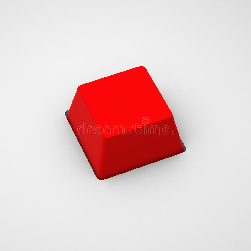 3d geef van lege rode toetsenbordknoop terug royalty-vrije illustratie