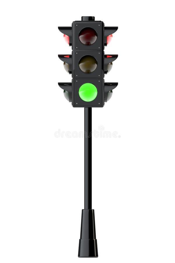 3d geef verkeerslichten terug vector illustratie