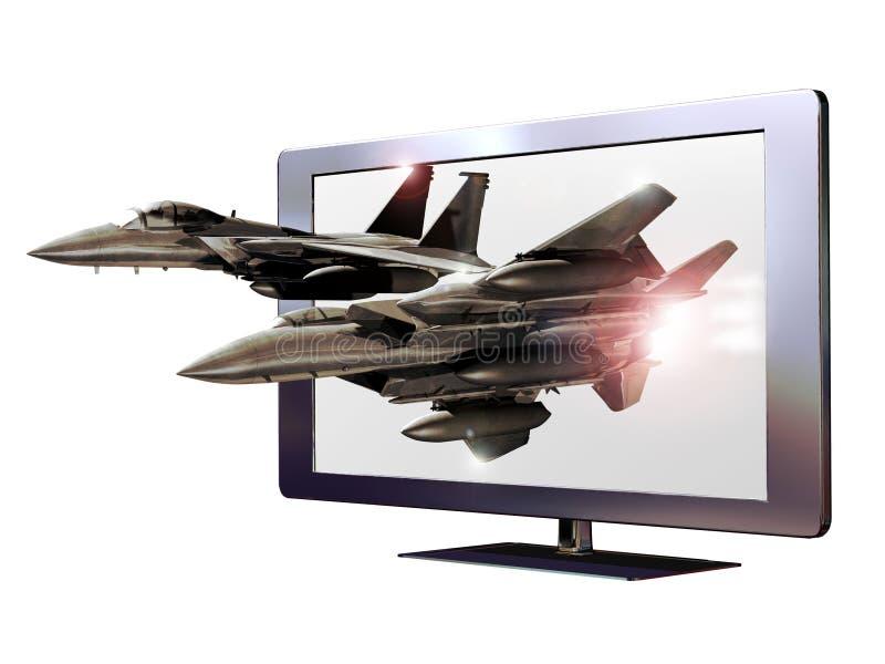 3D geleide televisie royalty-vrije illustratie