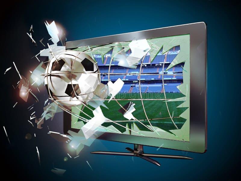 3D geleide televisie stock illustratie
