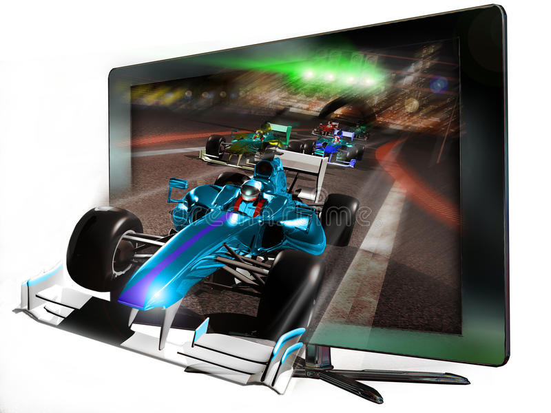 3D geleide televisie vector illustratie