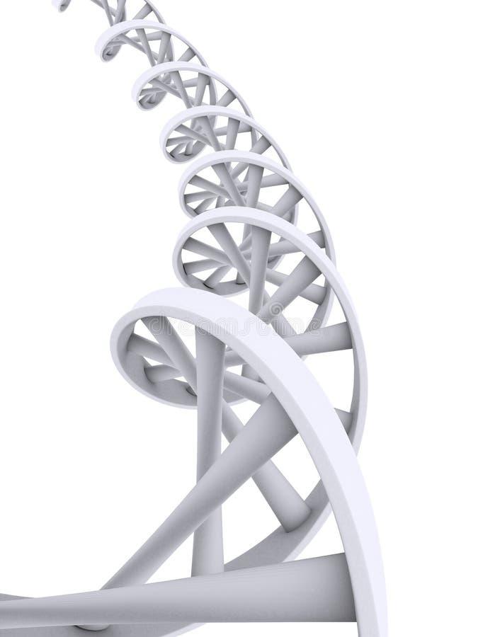 3d gene. 3d rendered illustration of a white double helix vector illustration