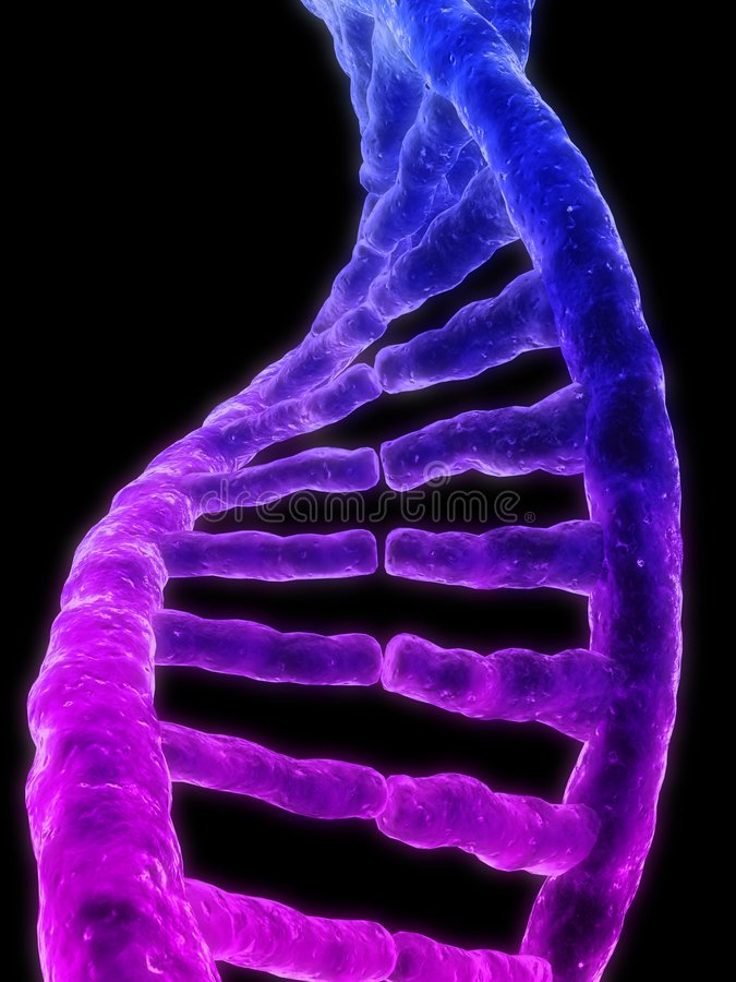 3d gene. 3d rendered illustration from a part of a double helix stock illustration