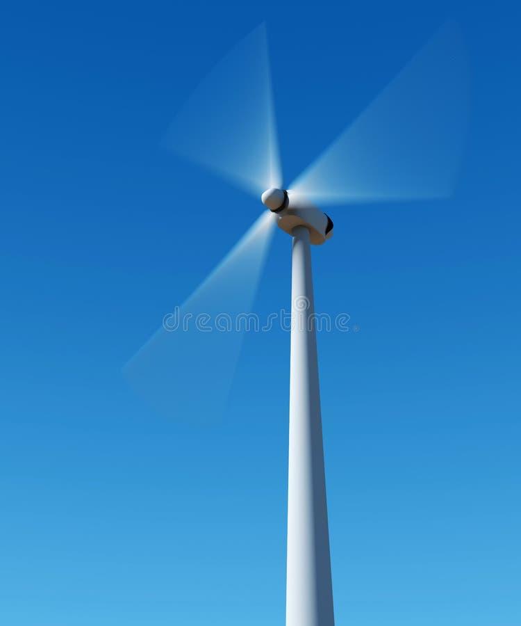 3d generatorowa władza odpłaca się wiatr obrazy royalty free