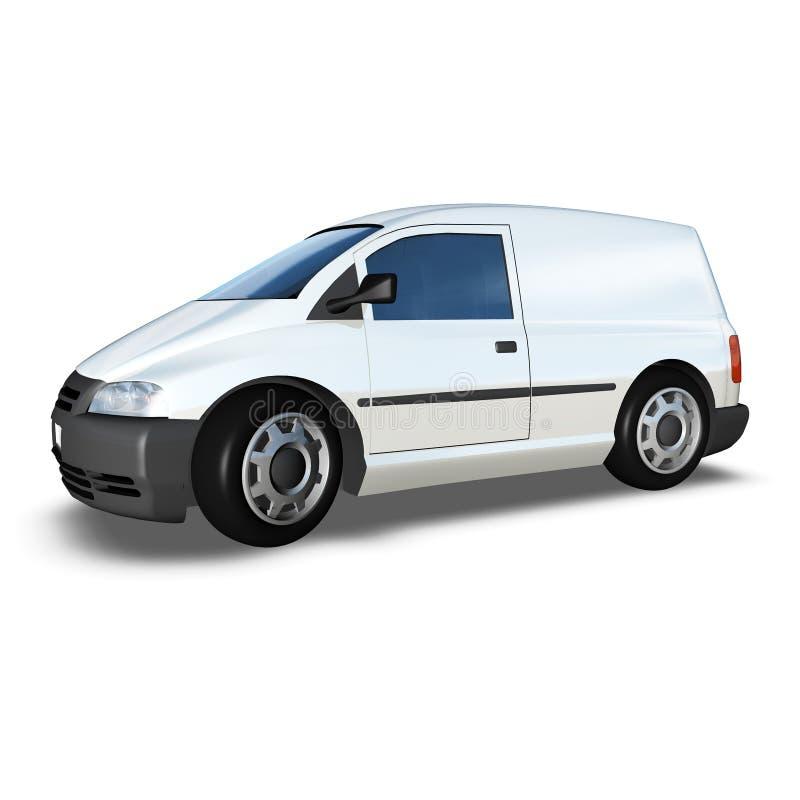 3d Generic Van Model - angolo fronte basso bianco fotografia stock