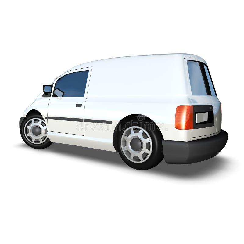 3d Generic Van Model - angolo posteriore basso bianco fotografia stock libera da diritti