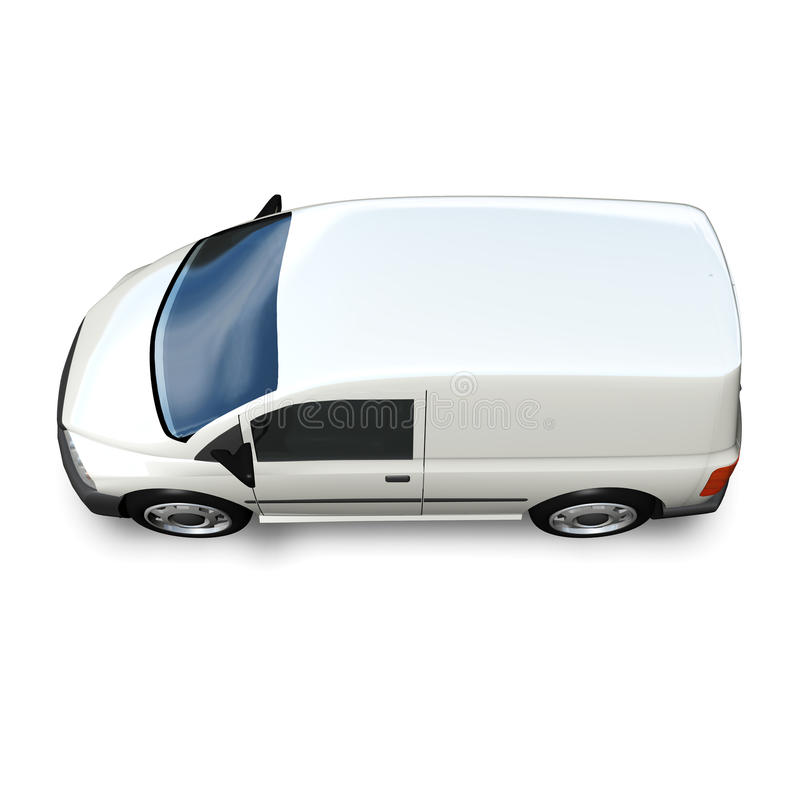 3d Generic Van Model - côté élevé blanc photos stock