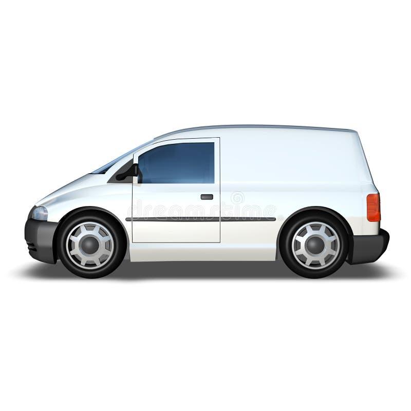 3d Generic Van Model - lato basso bianco fotografie stock