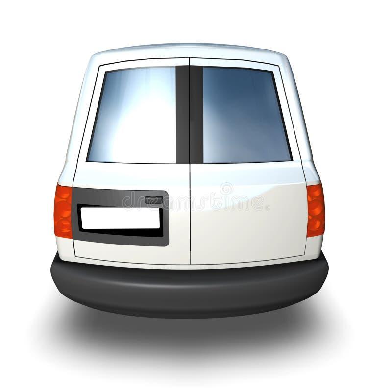 3d Generic Van Model - parte posterior del blanco imagen de archivo