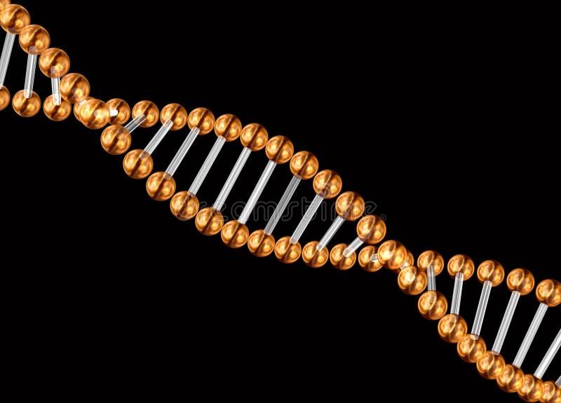 3d genetische code royalty-vrije illustratie