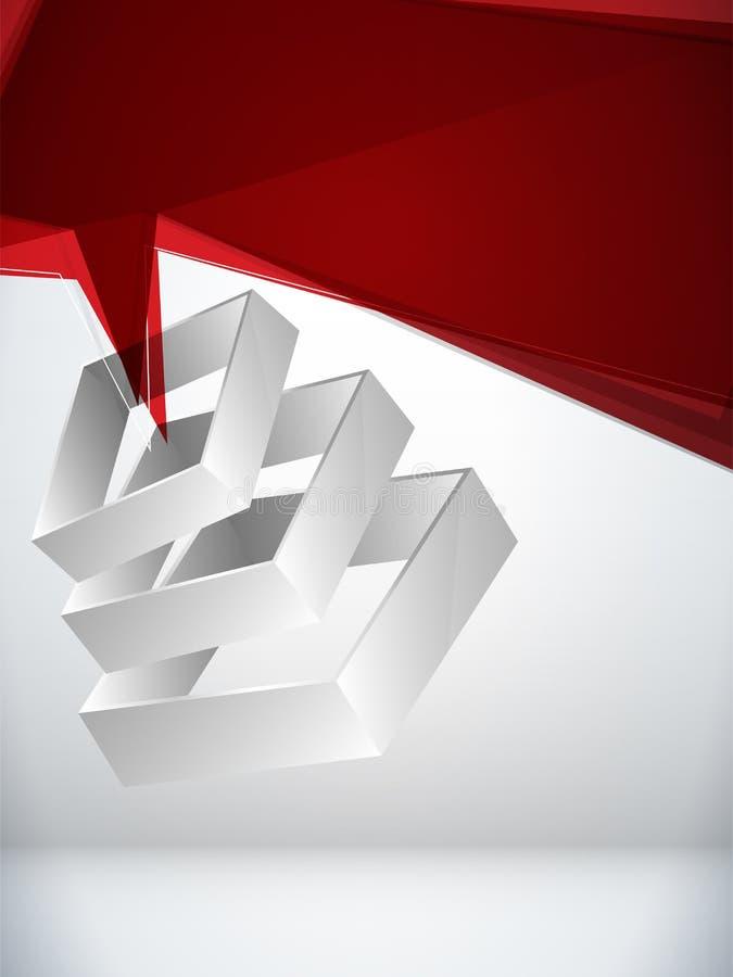 3d geometryczny abstrakcjonistyczny tło ilustracja wektor